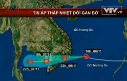 22h hôm nay (6/11), áp thấp nhiệt đới vào đất liền