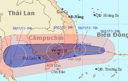 Áp  thấp nhiệt đới tiếp tục mạnh thêm