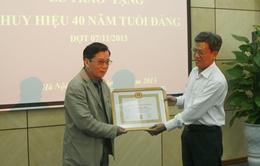 Đài THVN trao tặng Huy hiệu 40 năm tuổi Đảng đợt 7/11/2013