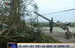 Lốc xoáy tại Quảng Trị, hàng chục nhà dân hư hỏng