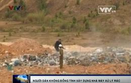 Quảng Nam: Dân dựng lều phản đối XD nhà máy xử lý rác thải