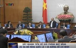 Đề nghị đẩy nhanh tiến độ GPMB dự án mở rộng QL1 và đường Hồ Chí Minh