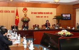 Khai mạc phiên họp thứ 23 Ủy ban Thường vụ Quốc hội