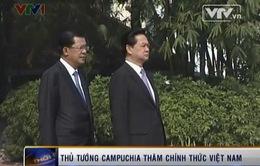 Lễ đón Thủ tướng Campuchia được tổ chức trọng thể