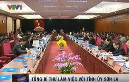 Tổng Bí thư làm việc với Ban Thường vụ tỉnh ủy Sơn La