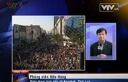 """VIDEO: """"Biển người"""" Thái Lan biểu tình phong tỏa Bangkok"""