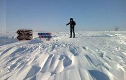 Romania ban hành báo động đỏ về bão tuyết