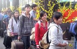 Hà Nội: Đưa công nhân về quê ăn Tết