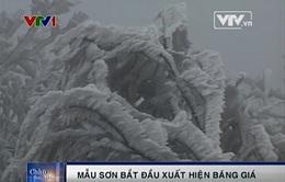 VIDEO: Băng giá phủ trắng đỉnh núi Mẫu Sơn