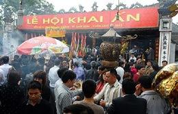 Đông đảo người dân tham dự Lễ Khai ấn Đền Trần