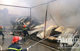 Chùm ảnh: Cháy lớn tại Công ty cổ phần len Hà Đông