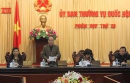 Khai mạc phiên họp thứ 25 Ủy ban Thường vụ Quốc hội