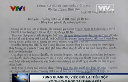 """Thực hư chuyện nộp tiền """"chống trượt"""" thi cao học tại Thanh Hóa"""