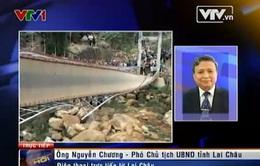 Vụ sập cầu treo ở Lai Châu: Huy động 8 xe cứu thương tập trung cứu chữa