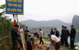 Quảng Bình đặt biển cấm tại 14 điểm khai thác cát sỏi trái phép