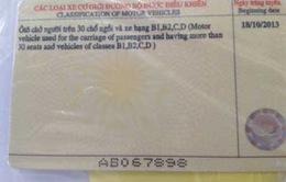 Xuất hiện giấy phép lái xe mẫu mới bị làm giả