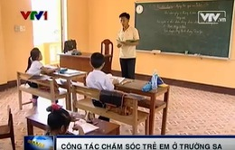 Chung tay chăm lo cho trẻ em ở Trường Sa