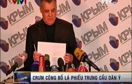 Crimea công bố lá phiếu trưng cầu dân ý