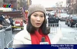 PV Trần Hà đưa tin từ New York: FBI và đội dò phá bom mìn điều tra vụ sập tòa nhà