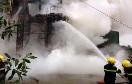 Chùm ảnh cháy lớn làm tê liệt nhà máy gỗ tại Quảng Trị