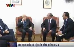 CTQH Nguyễn Sinh Hùng hội kiến Tổng thống Italy