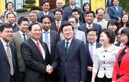 Chủ tịch nước tiếp các doanh nghiệp dệt may tiêu biểu