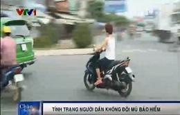 Tiền Giang: Người dân thờ ơ với mũ bảo hiểm