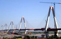 Hợp long cầu dài nhất Hà Nội bắc qua sông Hồng