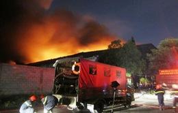 TP.HCM: Dập tắt đám cháy lớn tại khu xử lý chất thải rắn Gò Cát