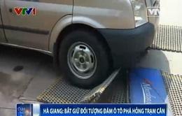 Bắt giữ đối tượng đâm ô tô phá hỏng trạm cân ở Hà Giang