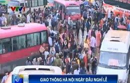 Ngày đầu nghỉ lễ, giao thông Hà Nội ùn tắc nghiêm trọng