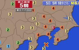 Động đất 6,2 độ Richter làm rung chuyển thủ đô Nhật Bản