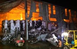 Cháy nhà máy giấy tại Bắc Ninh, hàng nghìn m2 nhà xưởng bị thiêu rụi