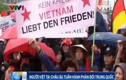 Người Việt tại châu Âu tuần hành phản đối Trung Quốc