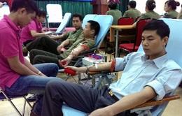 Hà Nội: 200 chiến sỹ an ninh tham gia hiến máu tình nguyện