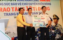 Trao tặng 12 tỷ đồng cho Cảnh sát Biển Việt Nam