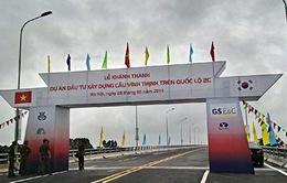 Khánh thành cầu Vĩnh Thịnh - cầu vượt sông dài nhất Việt Nam