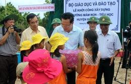 Xây dựng trường học trên huyện đảo Cồn Cỏ