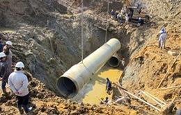 Hà Nội xây dựng gấp đường ống nước sạch mới