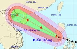 Siêu bão Rammasun đã đi vào Biển Đông