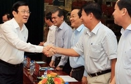Chủ tịch nước làm việc với lãnh đạo TP Hải Phòng