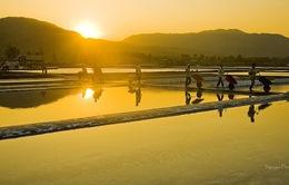 Vẻ đẹp diêm dân trên ruộng muối Long Điền