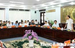 Đồng chí Tô Huy Rứa làm việc tại tỉnh Bạc Liêu