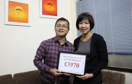 TTCE: Việt kiều Vương quốc Anh ủng hộ 3.970 Bảng