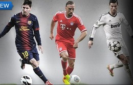 """Kịch tính cuộc đua """"Cầu thủ hay nhất châu Âu"""""""