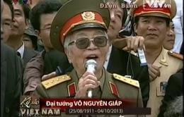 Đọng lại những thước phim màu xúc động về Đại tướng Võ Nguyên Giáp