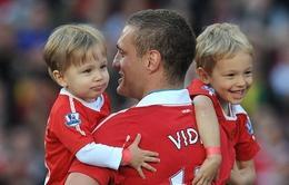 Thủ quân Vidic nói lời chia tay Man Utd