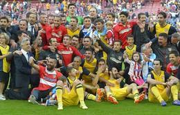 Tân vương Atletico thâu tóm hàng loạt kỷ lục ở La Liga