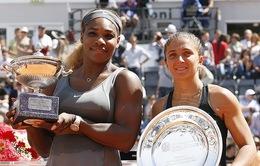 Serena lần thứ ba lên ngôi ở Rome Masters