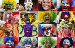 Màu cờ sắc áo 32 đội bóng dự World Cup qua khuôn mặt CĐV